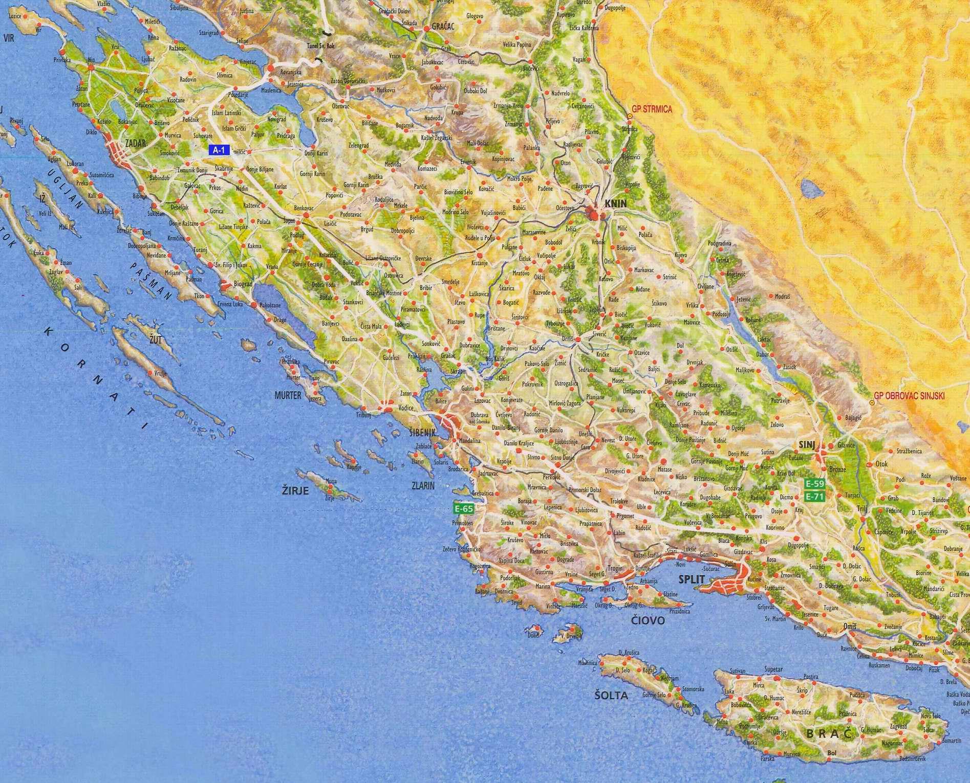 Mapy Dalmacie